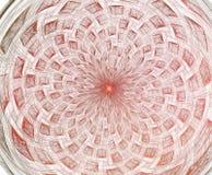 Abr?gez la composition de fractale Étoile magique d'explosion avec des particules, illustration de mouvement illustration libre de droits