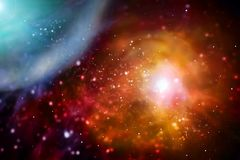 abr?gez le fond Nébuleuses cosmiques multicolores illustration stock