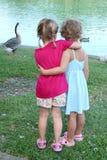 Abraçando meninas Foto de Stock Royalty Free