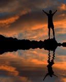 Abraçando o céu Imagens de Stock Royalty Free