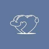 Abraçando os corações 01 Fotografia de Stock Royalty Free