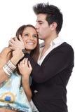 Abraçando pares Foto de Stock