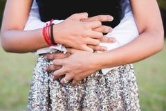 Abraço dos amantes Foto de Stock Royalty Free