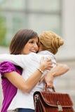 Abraço dos colegas Foto de Stock Royalty Free