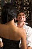 Abraço Intimate dos amantes Fotografia de Stock Royalty Free