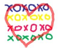Abraços e beijos Imagem de Stock Royalty Free