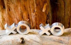Abraços e beijos de XOXO Fotografia de Stock