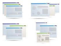 Abra ícones da aplicação Fotos de Stock Royalty Free