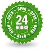 Abra 24 sinais Fotografia de Stock Royalty Free