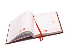 Abra a agenda Imagem de Stock Royalty Free