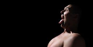 Abra al varón de la boca Fotografía de archivo libre de regalías