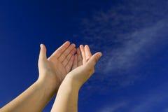 Abra as mãos Imagem de Stock Royalty Free