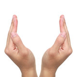 Abra as mãos Imagens de Stock Royalty Free