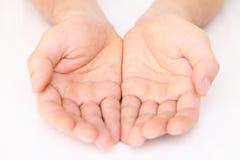 Abra as mãos Fotografia de Stock
