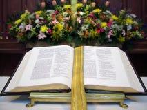 Abra a Bíblia Foto de Stock