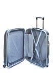 Abra a bagagem preta isolada Fotografia de Stock Royalty Free