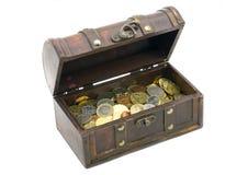Abra a caixa com dinheiro Imagem de Stock Royalty Free