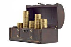 Abra a caixa com dinheiro Fotos de Stock