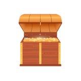 Abra a caixa com moedas Fotos de Stock Royalty Free