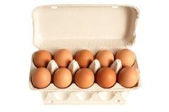 Abra a caixa com ovos Foto de Stock Royalty Free