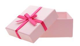 Abra a caixa cor-de-rosa imagens de stock royalty free