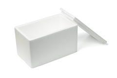 Abra a caixa de armazenamento do Styrofoam Imagem de Stock