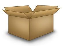 Abra a caixa de Brown Foto de Stock Royalty Free