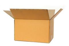 Abra a caixa de cartão Imagens de Stock Royalty Free