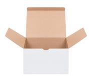 Abra a caixa de cartão imagem de stock royalty free
