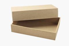 Abra a caixa de cartão Imagem de Stock