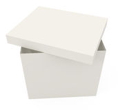 Abra a caixa de cartão isolada no branco Imagem de Stock Royalty Free