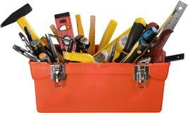 Abra a caixa de ferramentas - isolada foto de stock royalty free
