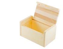 Abra a caixa de madeira Imagens de Stock Royalty Free