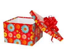 Abra a caixa de presente Imagens de Stock Royalty Free