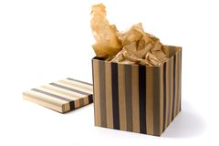 Abra a caixa de presente Foto de Stock Royalty Free