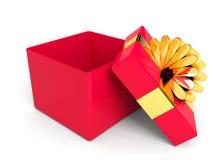 Abra a caixa de presente do Natal Fotografia de Stock