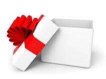 Abra a caixa de presente do Natal Imagem de Stock Royalty Free