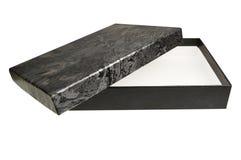 Abra a caixa de presente preta ornamentado da jóia Foto de Stock Royalty Free