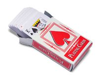 Abra a caixa dos cartões Fotos de Stock