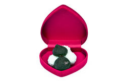 Abra a caixa no coração da forma com doces Imagens de Stock
