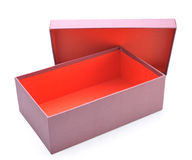 Abra a caixa vazia Imagem de Stock