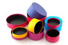 Abra caixas coloridas Fotografia de Stock