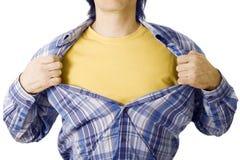 Abra a camisa Imagens de Stock
