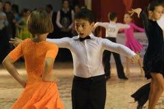 Abra a competição Latin da dança, 6 - 9 anos Foto de Stock