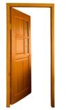 Abra de madeira isolado Foto de Stock Royalty Free
