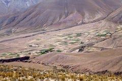 Abra del Condor-bergpas bij een verhoging van 4000 m op de grens van de Provincie van Salta en Jujuy-, Argentinië royalty-vrije stock afbeelding