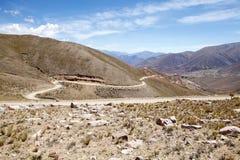Abra del Condor-bergpas bij een verhoging van 4000 m op de grens van de Provincie van Salta en Jujuy-, Argentinië stock foto's