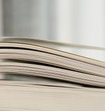 Abra densamente folhas do livro Imagens de Stock Royalty Free