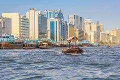 Abra Dubai Creek Arkivfoto