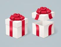 Abra e feche a caixa atual Vetor Imagem de Stock Royalty Free
